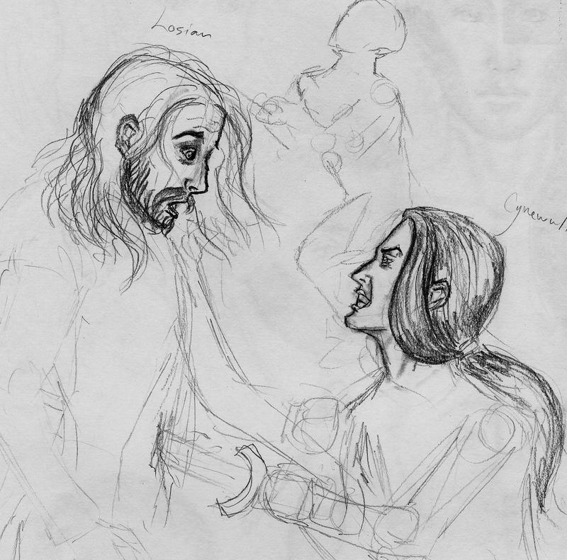 Losian-Cynewulf sketch by Theophilia