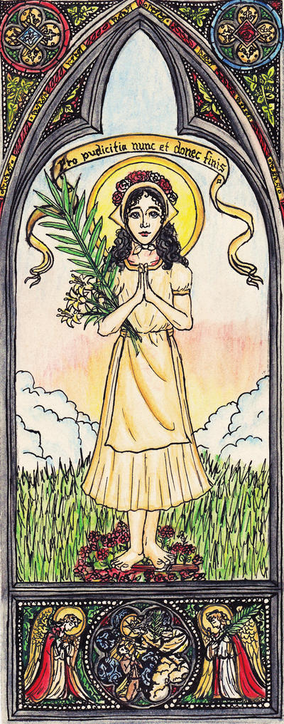 Saint Maria Goretti by Theophilia