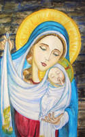 Madonna of the Veil by Theophilia