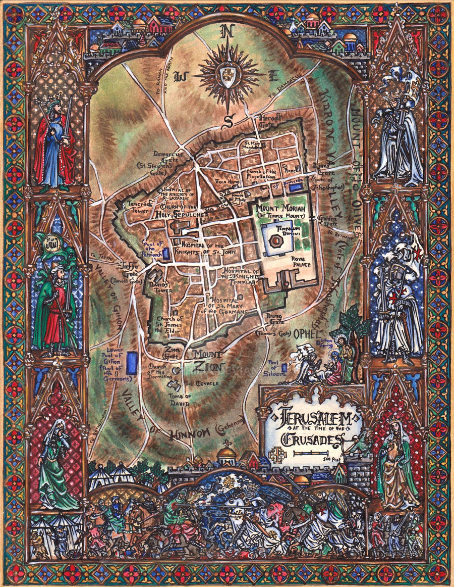 The Holy City of Jerusalem by Theophilia
