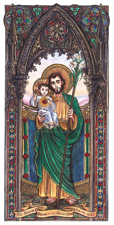 Saint Joseph by Theophilia