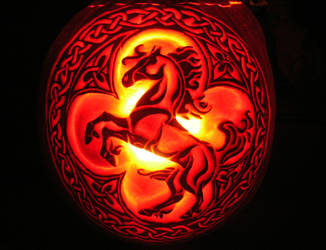 Celtic Fire Horse by Theophilia