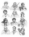 Mountain King Cartooned Characters