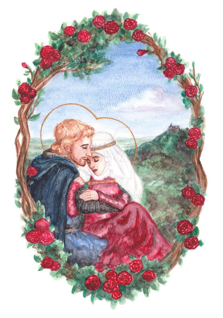 Ludwig and Saint Elizabeth by Theophilia
