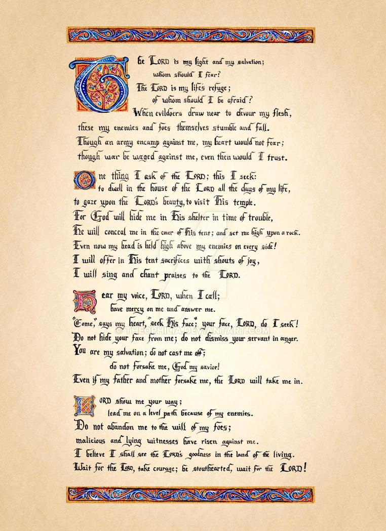 Psalm XXVII by Theophilia