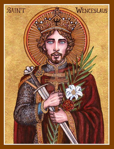St. Wenceslaus icon by Theophilia