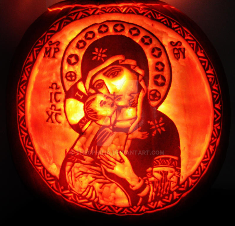 Theotokos of Vladimir pumpkin by Theophilia