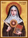 St. Gertrude the Great icon