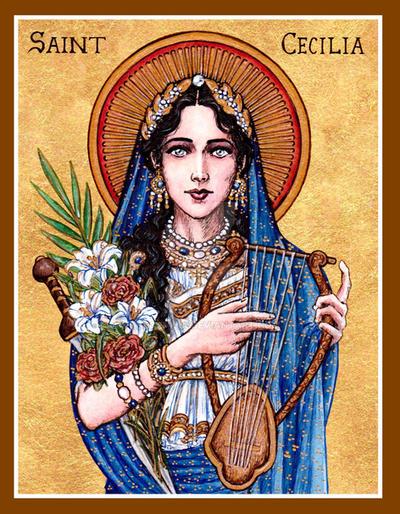 St. Cecilia icon by Theophilia
