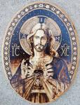 Sacred Heart of Jesus III - Pyrography
