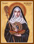 St. Hildegard von Bingen icon