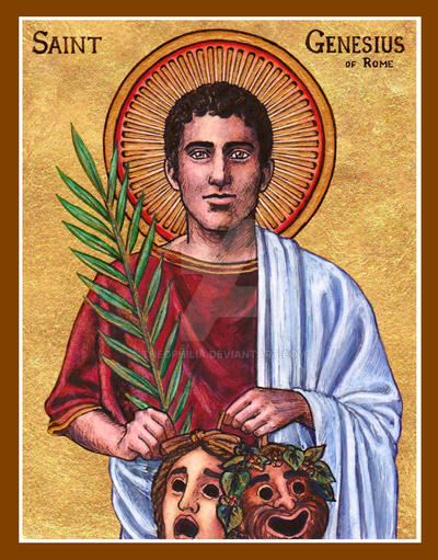 St. Genesius of Rome icon by Theophilia on DeviantArt