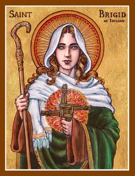 St. Brigid of Ireland icon