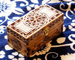 Small Gothic Box (Chip-carving)