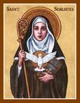 St. Scholastica icon