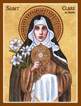 St. Clare of Assisi icon