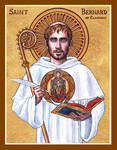 St. Bernard of Clairvaux icon