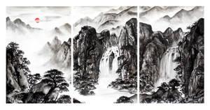 Landscape Painting Triptych - The Pilgrim's Path