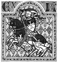 Templar Bookplate by Theophilia