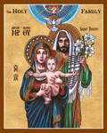 The Holy Family icon