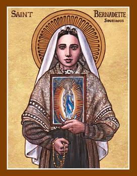 St. Bernadette Soubirous of Lourdes icon