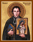 Saint Marcellin Champagnat icon
