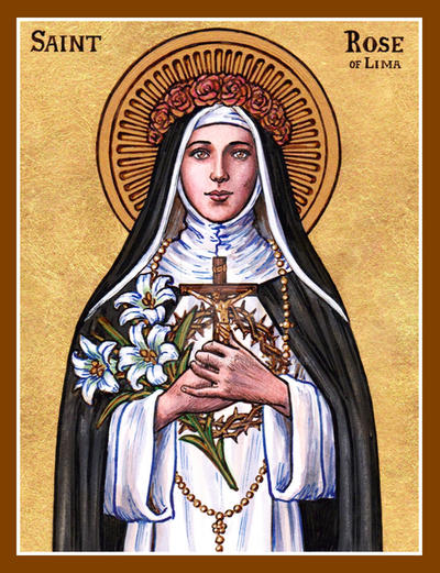 df7c25a61e28 St. Rose of Lima icon by Theophilia on DeviantArt