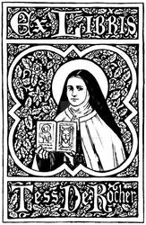 St. Therese Bookplate