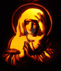 Sassoferrato Virgin at Prayer Pumpkin