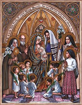 Holy Family with Barrick Family Patron Saints