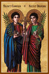 Saints Cosmas and Damian icon