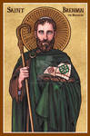 St. Brendan the Navigator icon