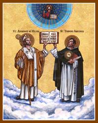 St. Ambrose and St. Thomas Aquinas icon
