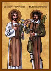 St. Joseph the Worker and St. Nicholas Owen icon
