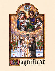 Magnificat - Wedding Holy Card