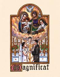 Magnificat - Wedding Holy Card