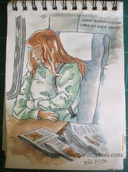 Apunte en el Tren 1 by Korupo