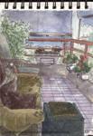 Apunte en la terraza by Korupo