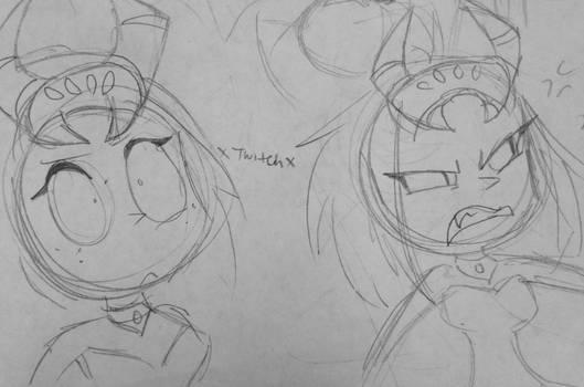 Velma Green sketches