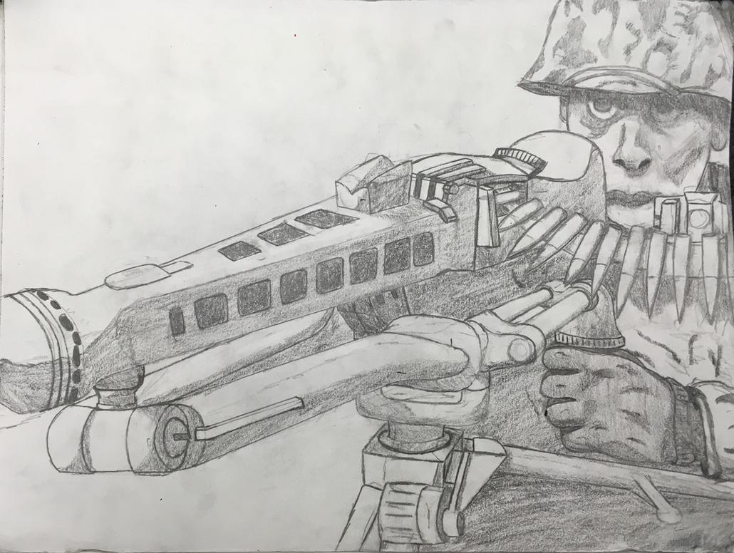Machine Gunner by P72-Deltacommander