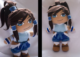 Korra Plushie Commission by Xandyr