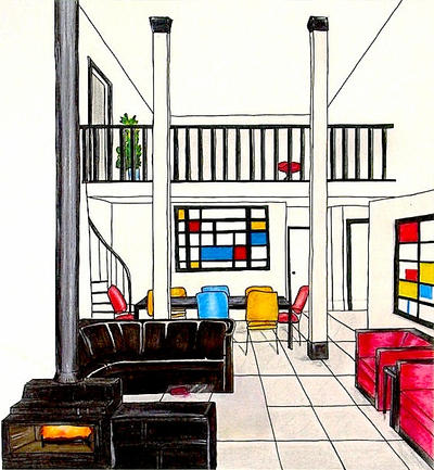 Destijl interior by noorr on deviantart How many hours do interior designers work