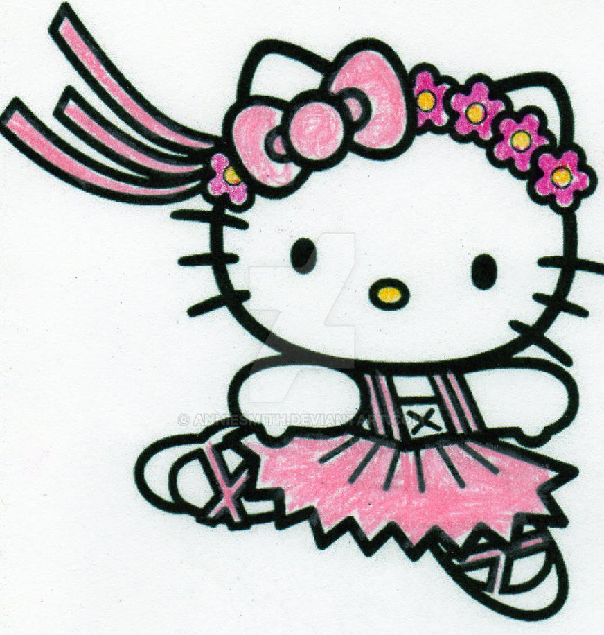 hello kitty ballerina by anniesmith on deviantart - Kitty Ballet Coloring Pages