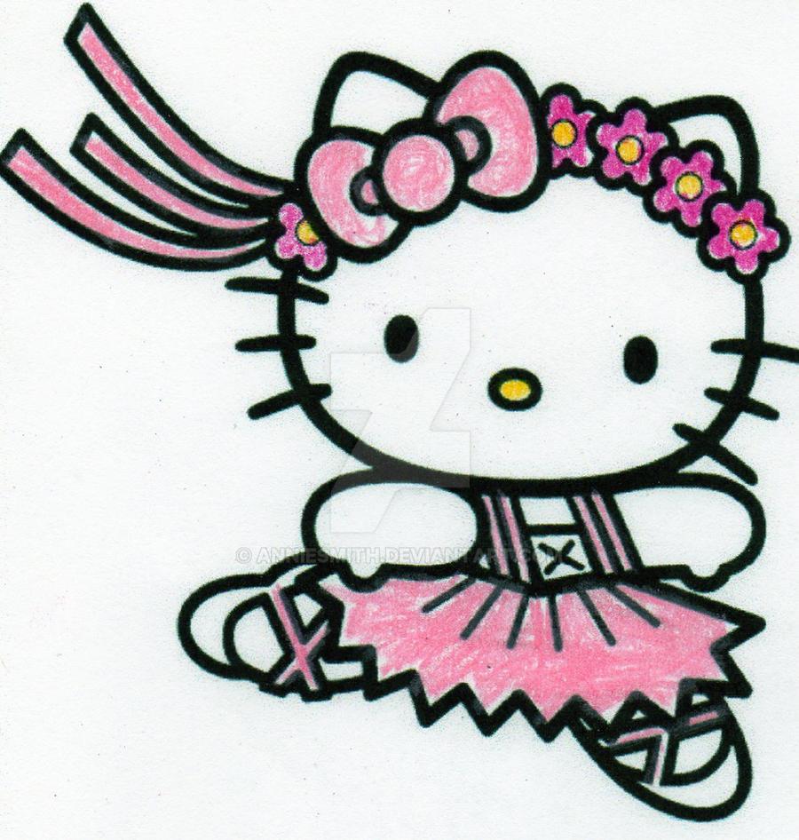 hello kitty ballerina by anniesmith on deviantart