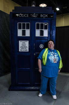 Me in The TARDIS Booth at Tokyp in Tulsa 7/11/2014