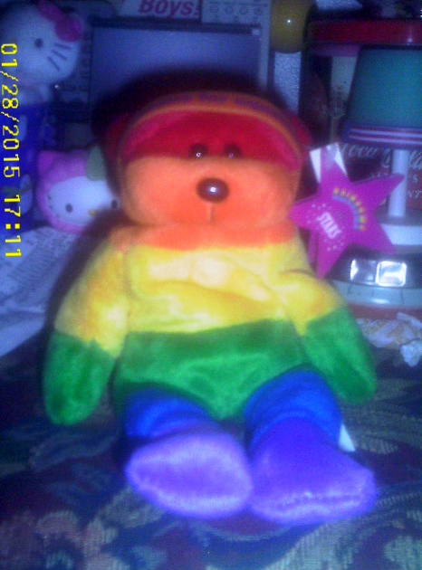 Stoney the Rainbow Bear by AnnieSmith