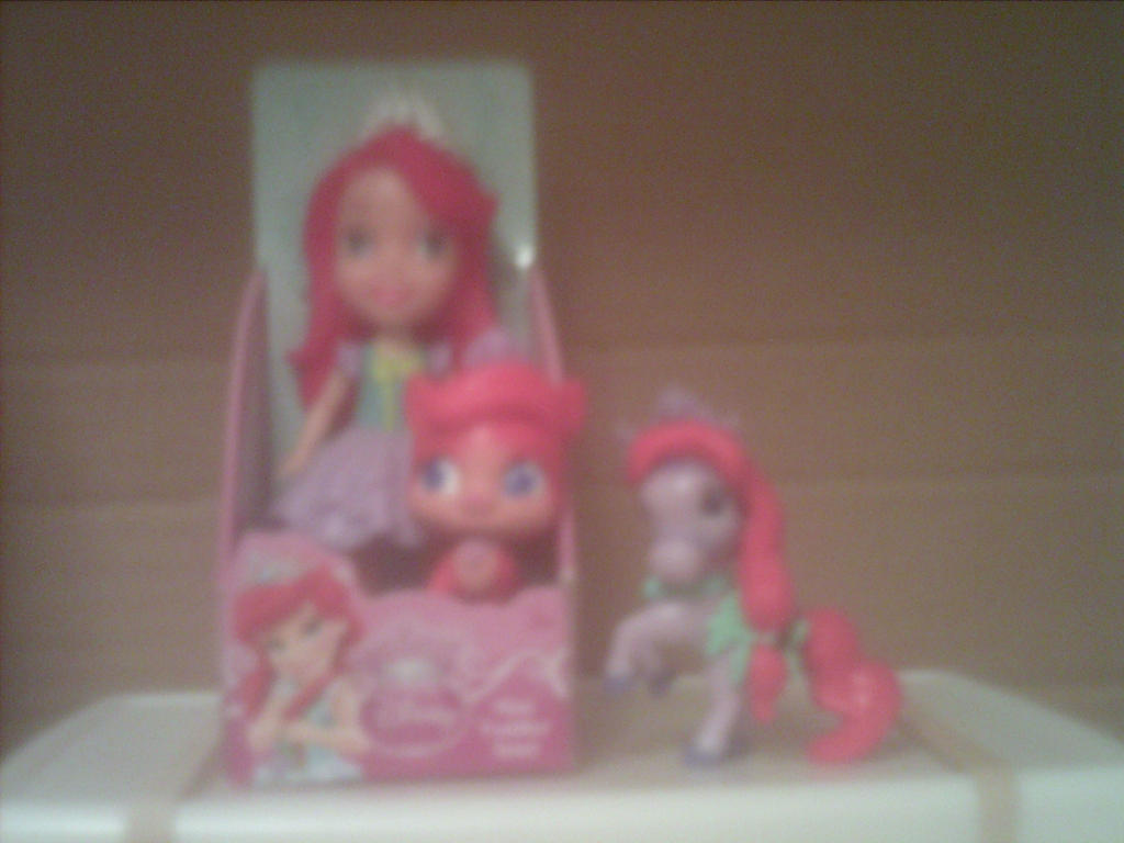 Toddler Princess Ariel with Seashell and Treasure by AnnieSmith