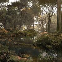 Dank And Misty Woodland by DIGITAL-DOM