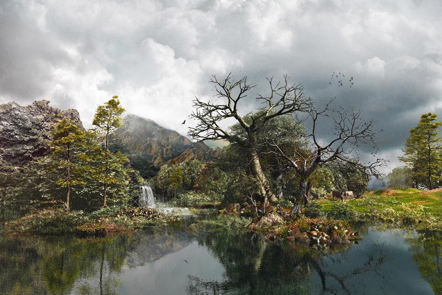 Rocky Mountain Lake by DIGITAL-DOM