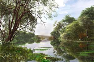 Scenic Lake by DIGITAL-DOM
